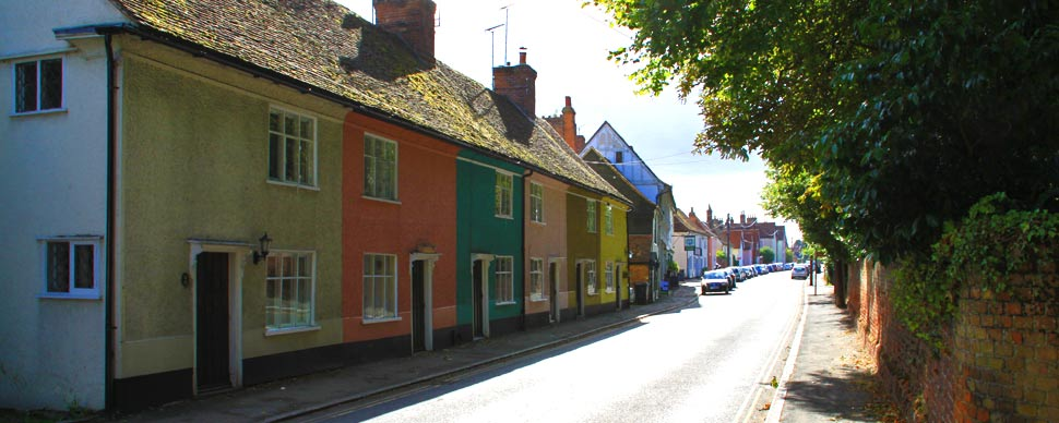 colourful cottages to have a romantic break in