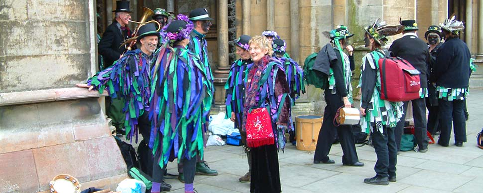 Morris dancers to entertain your romantic break