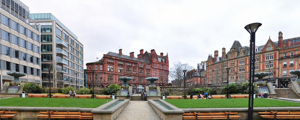 Sheffield centre to enjoy and walk around
