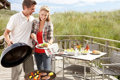 Holiday cottages with a barbeue make self-catering holidays much more fun